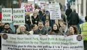 Protest march delivers Save King Edward Memorial Park petition to City Hall