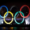 In pictures: Olympic Rings pass Wapping on the River Thames