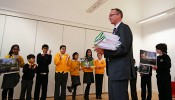 Local children present Save KEMP petition to Thames Water