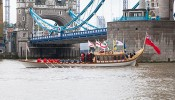 Gloriana on the River Thames for the 2012 Lord Mayor's Show – photos