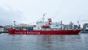 S. A. Agulhas leaves London for 'The Coldest Journey' with Sir Ranulph Fiennes