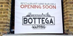 Bottega Wapping restaurant in Metropolitan Wharf opens 5th August