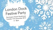 Free London Dock festive community party on 17 December