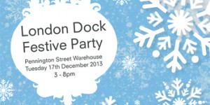 Free London Dock festive community party on 17 December