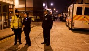 Two stabbed and Police officer injured during violent scenes at Pennington Street in Wapping
