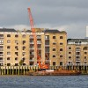 The new crane at New Crane Wharf in Wapping