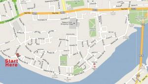 Wapping Shops Map