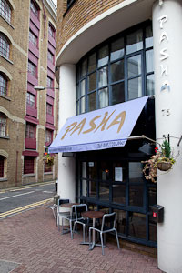 Image Pasha Wapping Restaurant E1W