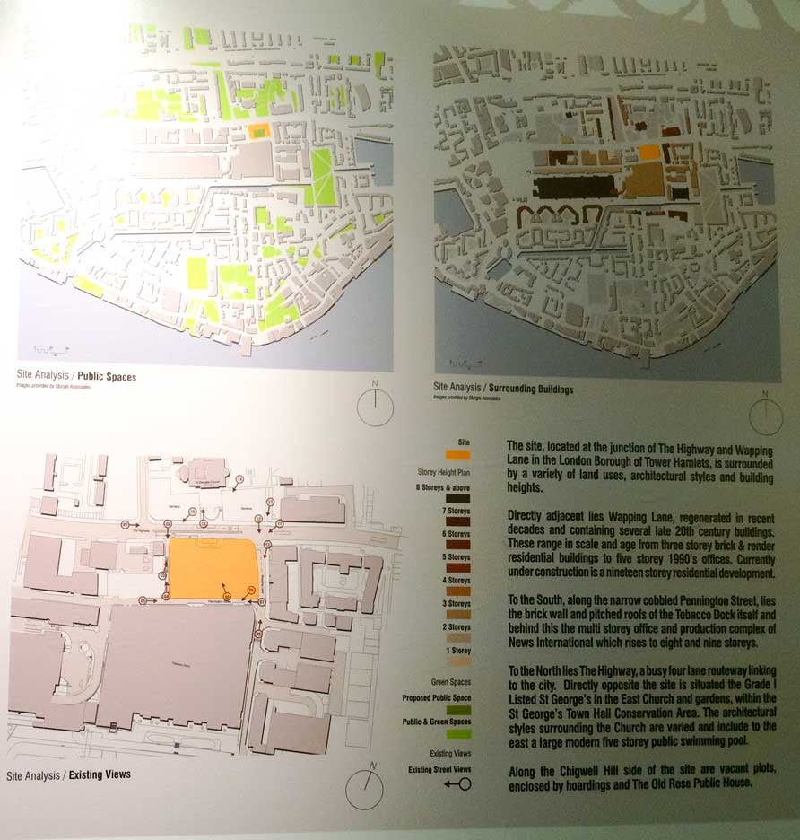 Tobacco Dock Hotel and Plaza Development Map