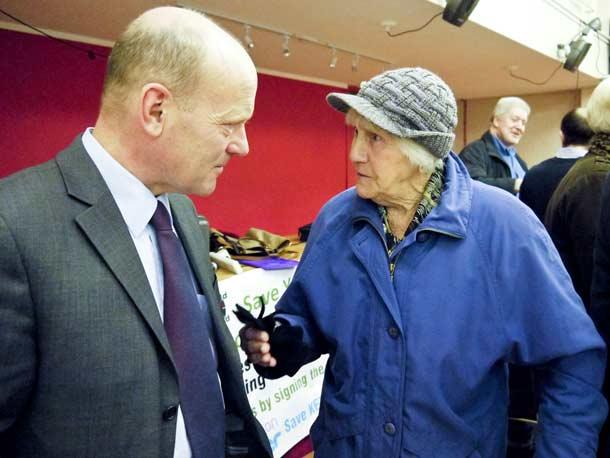 John Biggs speaking to Margaret Clark about saveKEMP