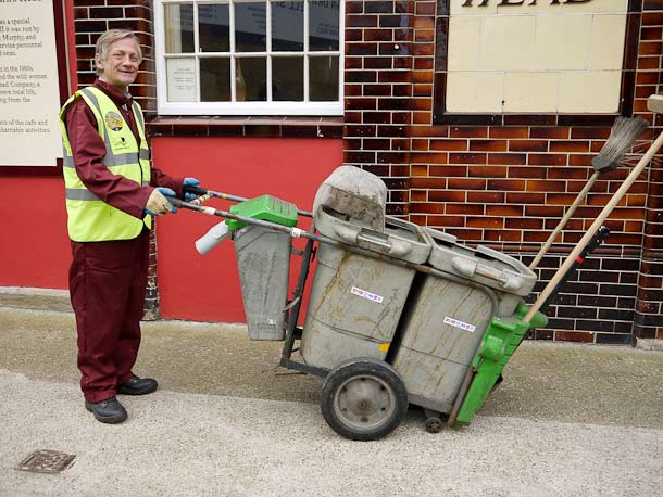 Litter collection in Wapping: Paul