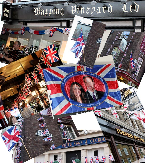 Wapping pubs prepare for Royal Wedding