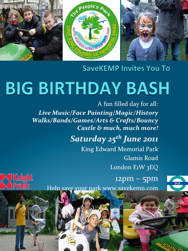 Party King Edward Memorial Park 25th June