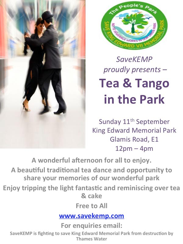 Image Tea and Tango in the park with SaveKEMP poster