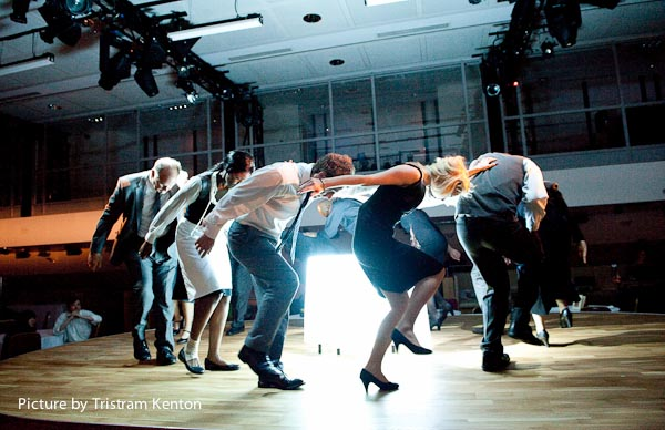 Image of cast dancing
