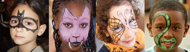 Image of face painting for halloween in KEMP