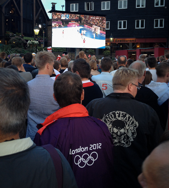 Watching handball at Visit Denmark - Photo by @Gramus