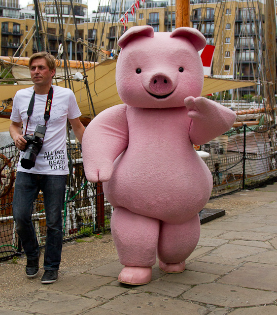 Pink pig at Visit Denmark in St Katharine Docks