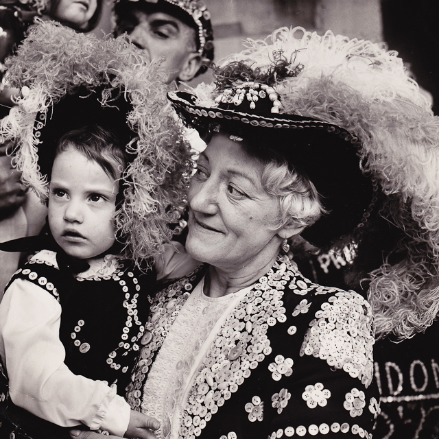 Toni Davey and her nanny, Nell Marriott, Pearly Queen of Lambeth