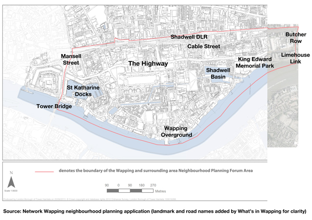 Network Wapping Neighbourhood Planning Forum revised area